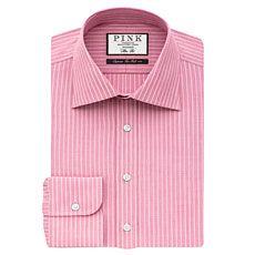Abel Stripe Slim Fit Button Cuff Shirt