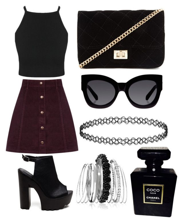 """""""City girl"""" by hannahlee01 on Polyvore featuring Oasis, Forever 21, Karen Walker, Chanel and Avenue"""