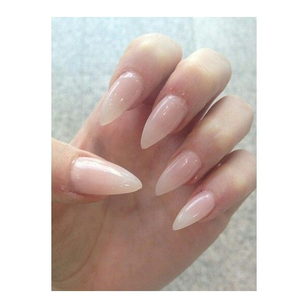 Short Natural Stiletto Nails