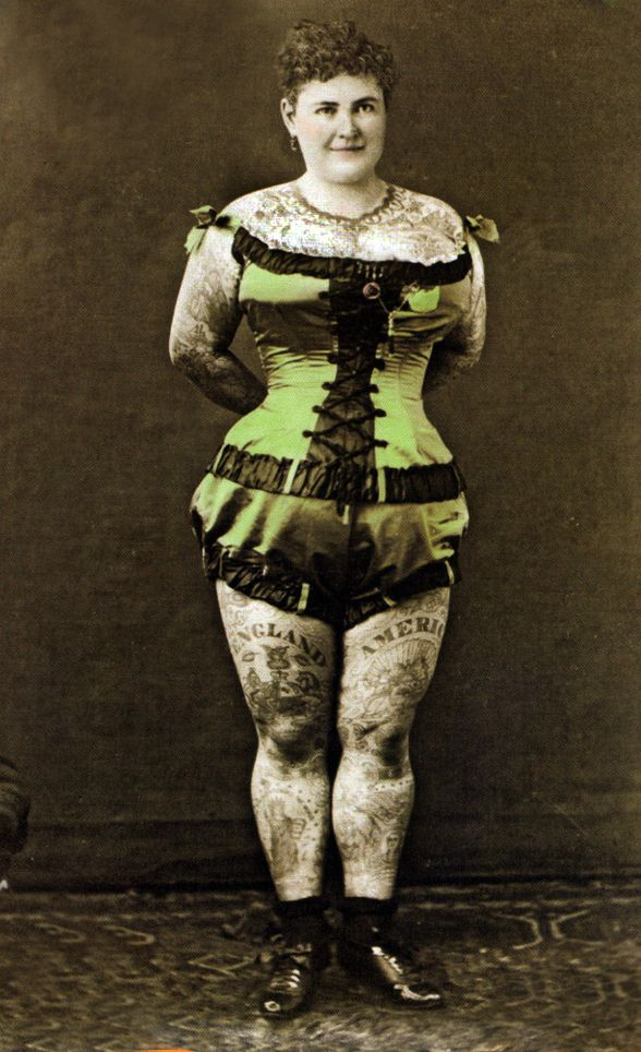 Emma de burgh c 1880 s one of the first modern for Tattoo freak costume