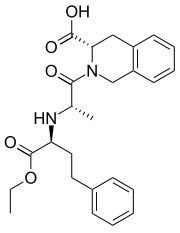 Quinapril (Accupril) is an angiotensin-converting enzyme inhibitor (ACE inhibitor) used in the treatment of hypertension and congestive heart failure. Quinapril is a prodrug. It is converted to its active metabolite, quinaprilat, in the liver.