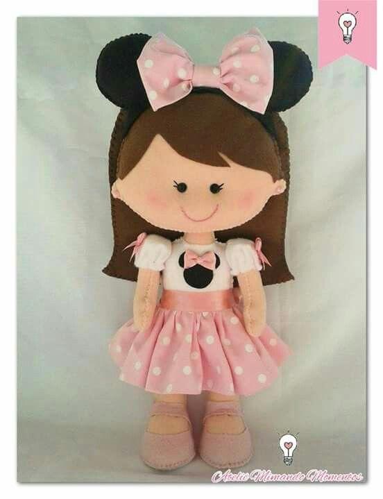 Boneca Minnie Minnie Rosa Anivers 225 Rio Pinterest