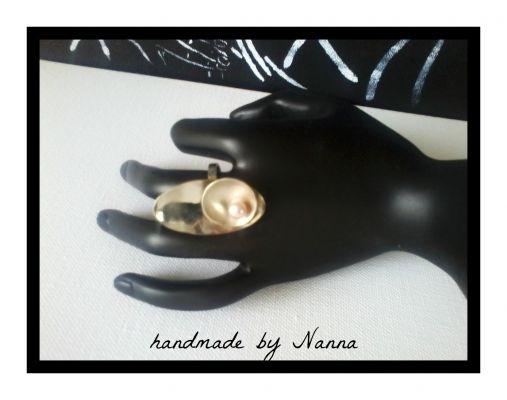Δαχτυλίδι MAR | myartshop Αρζαντό-μπρούτζος και μαργαριτάρι