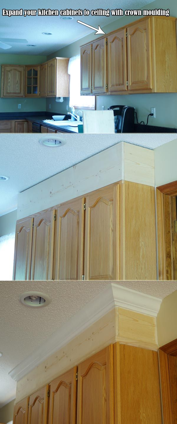 Expand Your Kitchen Cabinets To Ceiling With Crown Moulding Kitchen Cabinets To Ceiling Cabinets To Ceiling Best Kitchen Cabinets