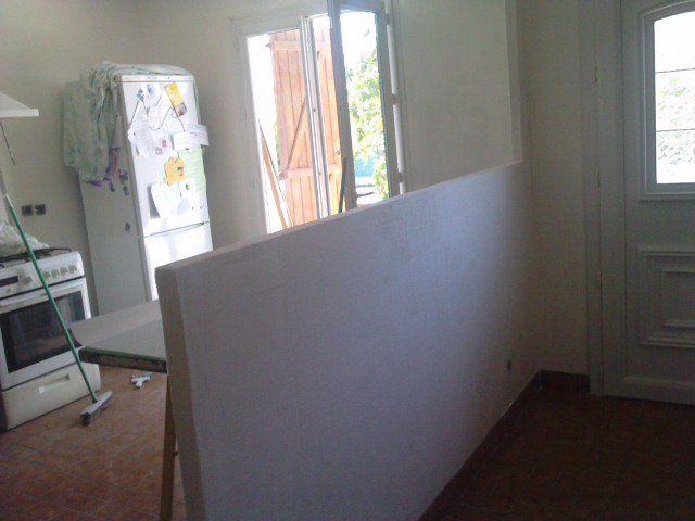 This wall repairs and repainting