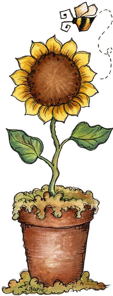 mack-decoupage sunflowers