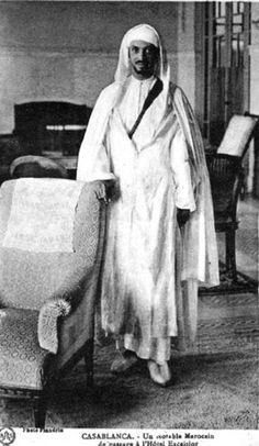 A member of the upper classes in Morocco circa 1930 taken at Hotel Excelsior in Casablanca(km)