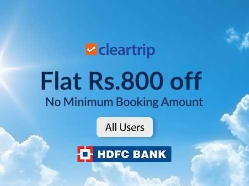 Flat Rs.800 off on One Way International Flight Bookings via HDFC CC
