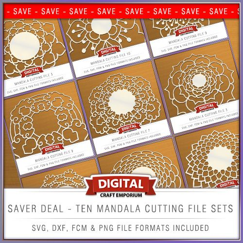 Create wonderful backgrounds for greetings cards, scrapbook pages or framed pictures with these delightful and unique designs from Digital Craft Emporium. There are ten designs included within this set. Each is supplied as a single cutting file, provided in a selection of file formats