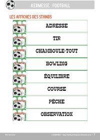 "kits à thèmes kermesse  ""football"""