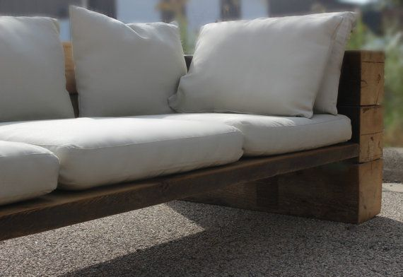 Reclaimed Wood Sofa Couch Sectional  Reclaimed Wood by DendroCo
