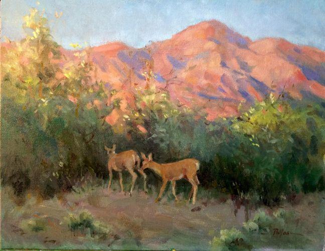 Betty Pallos, San Gabriel Mountain Evening