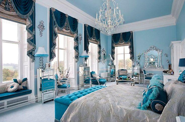 Blue Master Bedrooms In Mansions Blue Master Bedroom B Interiors Tiffany Blue Pinterest