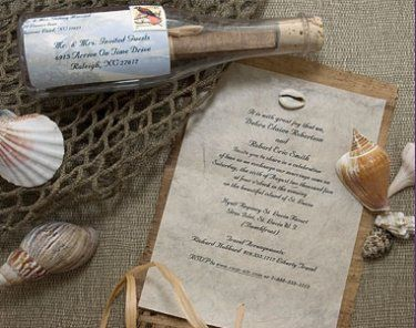 message in a bottle invitations, totally thinking for our valentines date