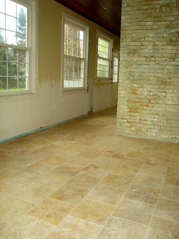 36 best travertine tile images on pinterest Travertine kitchen floor ideas