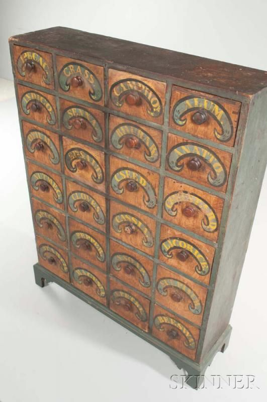 Paint-decorated Spice Cabinet - Price Estimate: $2000 - $4000