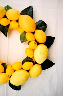 ~ lemon wreath ~ sukkot ~ perfect for sukkah decoration