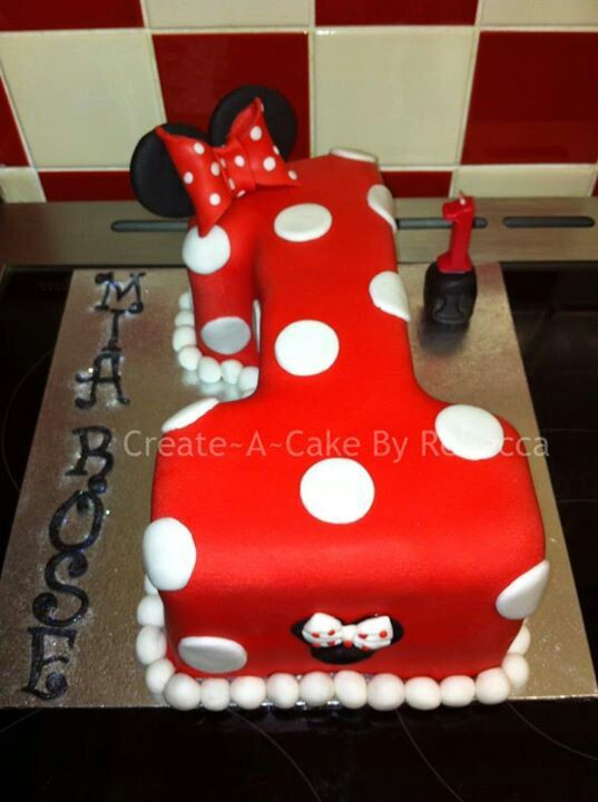 Decorating Ideas > Minnie Mouse Number 1 Cake  Cakes 1st Birthday Cakes  ~ 042142_Number One Cake Decoration Ideas