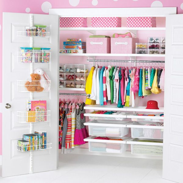 Love this organizing system - especially the wire shelves on the door!