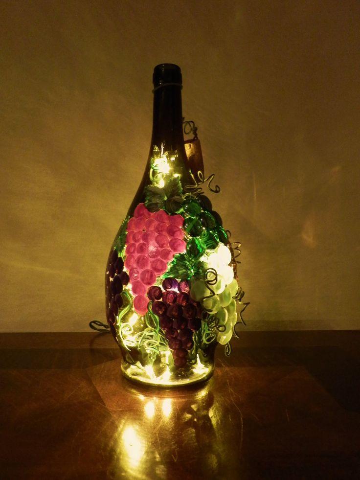 Best 25 lighted wine bottles ideas on pinterest for Lighted wine bottle craft