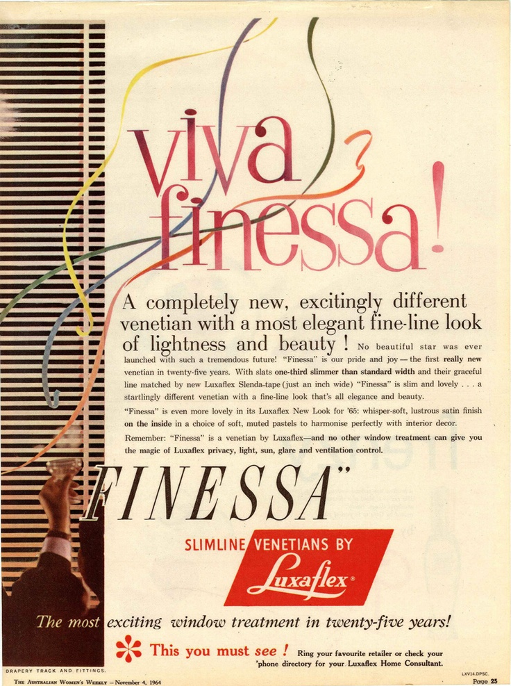 Luxaflex ad from The Australian Women's Weekly - November 4, 1964