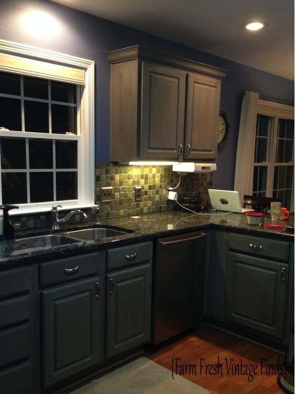 Want to learn how to paint thermofoil cabinets with chalk for Annie sloan painted kitchen cabinets