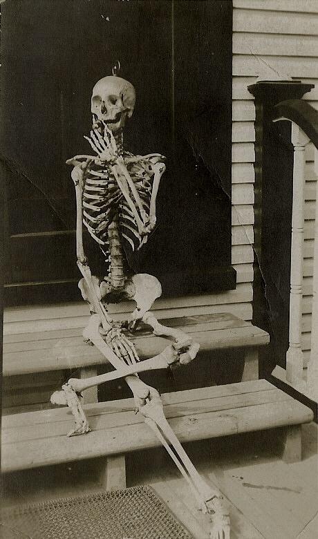 Skeleton Smoking Cigar