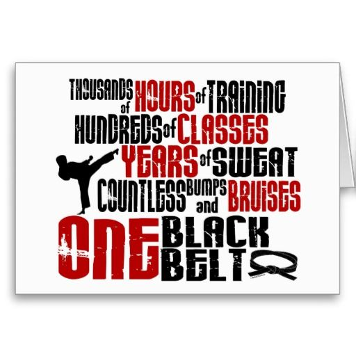 ONE Black Belt 2 KARATE T-SHIRTS & APPAREL Cards