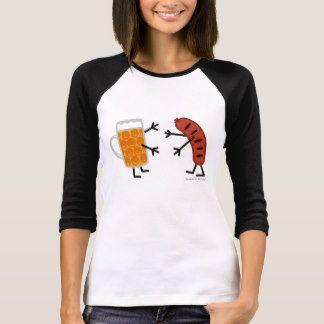 Beer & Bratwurst - Funny Friendly Food T-Shirt