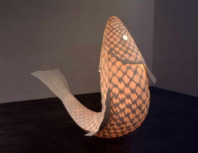 Frank Gehry's fish lamp has the most awesome scales.