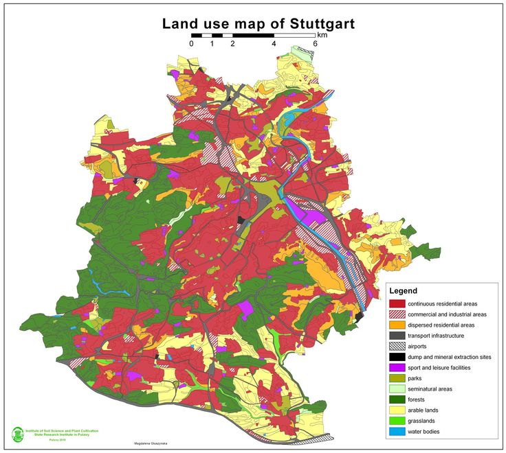 Germany: This is a land use map of Germany. The land is used mostly for farming which is in Green on this map.