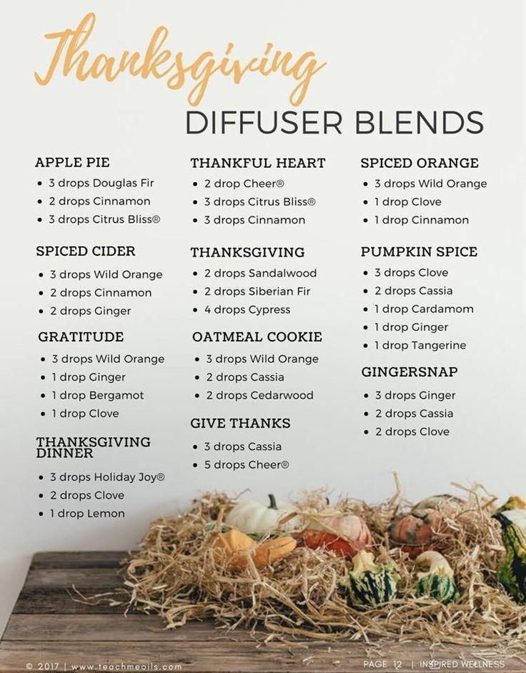 Beautiful Thanksgiving essential oil blends from doTERRA #doterra #EssentialOils