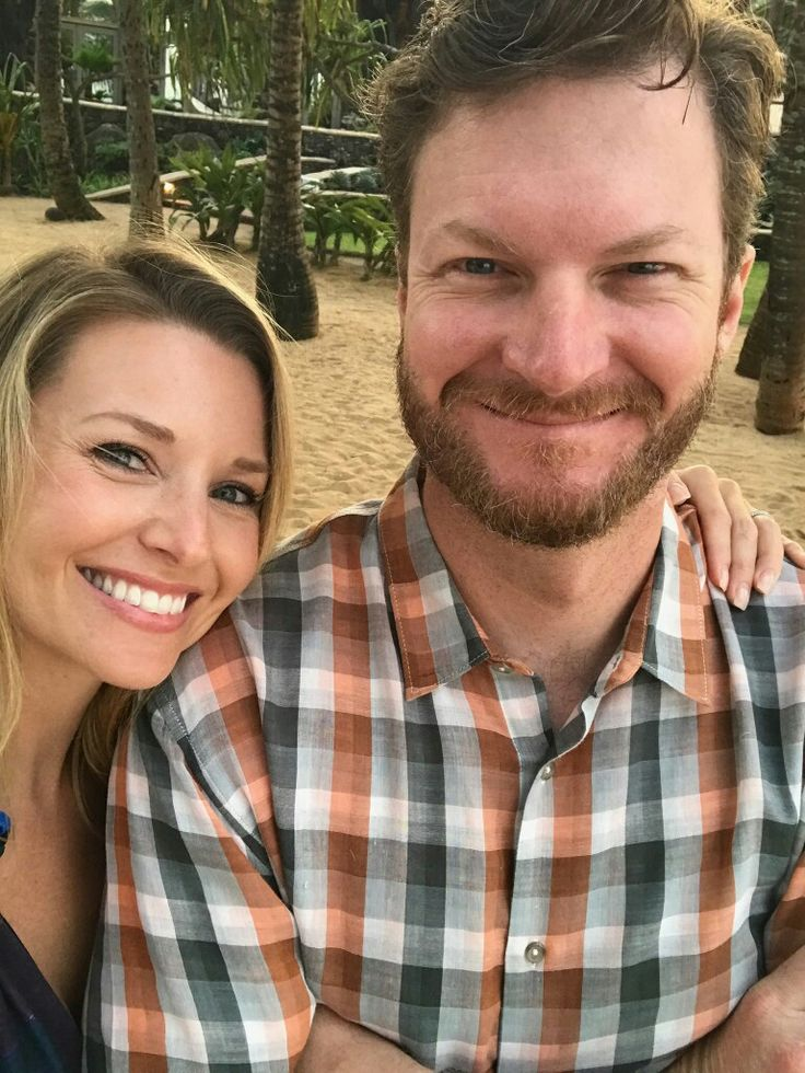 Dale Earnhardt Jr and his wife Amy