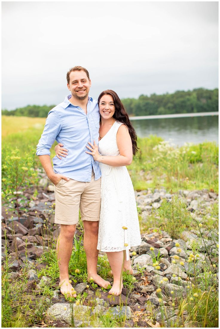 Summer Engagement Session on the Water in Fawn Lake – HTP   Engagements