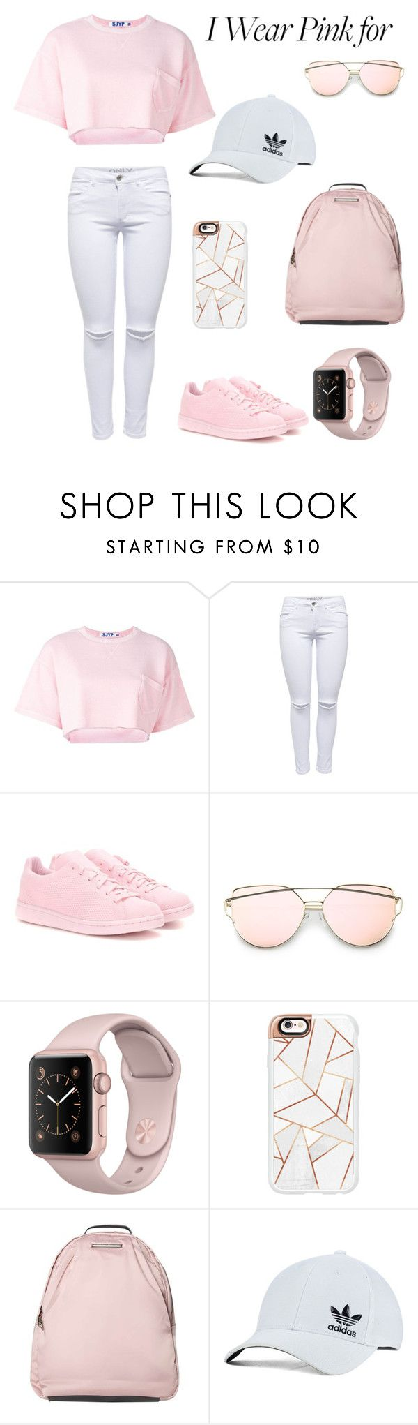 """""""PINK"""" by agne-zukaite ❤ liked on Polyvore featuring Steve J & Yoni P, adidas Originals, Casetify, Dorothy Perkins and IWearPinkFor"""