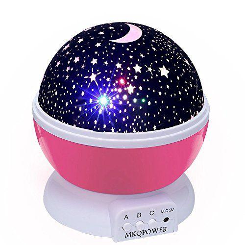 Ciel Étoile Nuit Lumière, MKQPOWER® STAR de nouvelle génération d'éclairage de la lampe 360 degrés Chambre Romantique Rotating Nuit lampe…