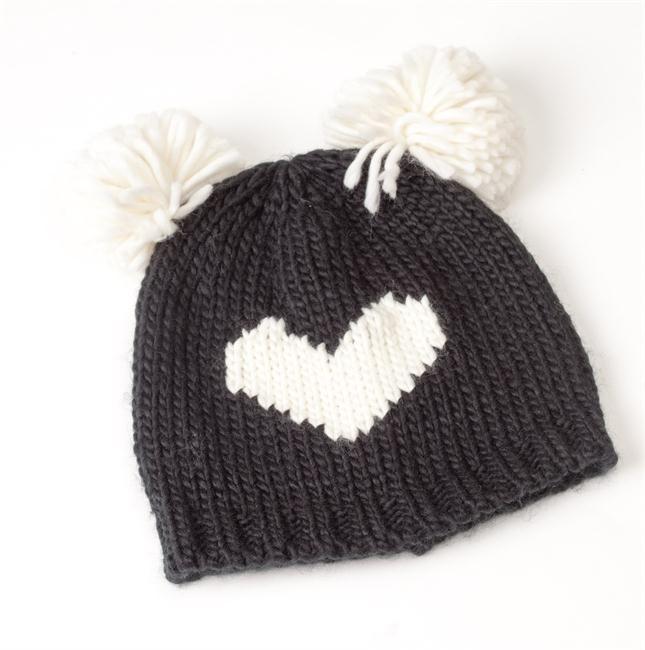Gorro de lana con corazón