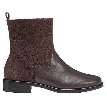2017 Comfortable Aerosoles Make A Wish MediumWide Ankle Boot Dark Brown Combo