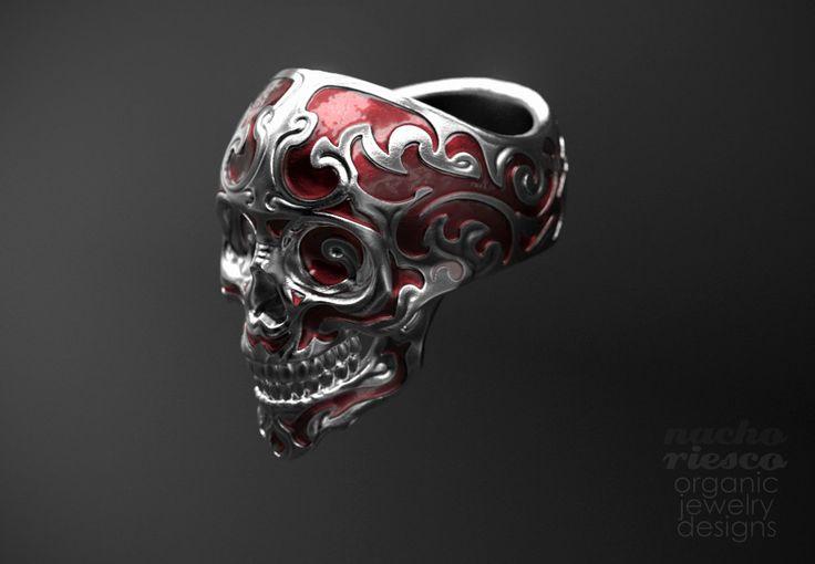 Baroque Skull Ring, Nacho Riesco Gostanza on ArtStation at https://www.artstation.com/artwork/3E3V2