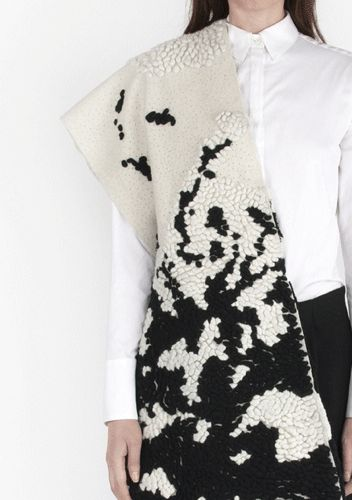 Innovative textiles for fashion with mixed materials for a textured monochrome surface; fabric manipulation // Minki Cheng