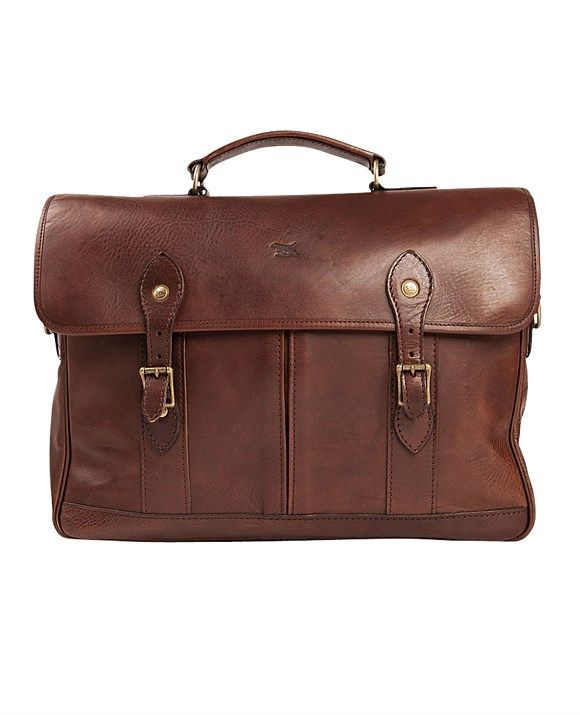 Men's luggage & bags | Men's weekend bags, leather luggage, travel luggage | Rodd & Gunn - Briefcase $1099