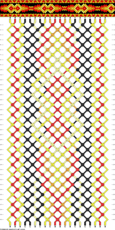 20 strings, 5 colors, 40 rows