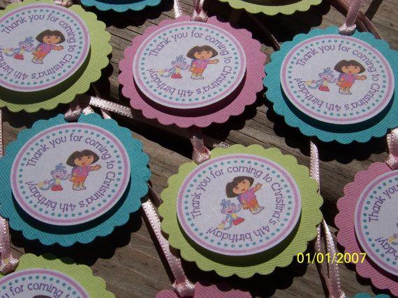 NEW Dora the Explorer Favor TagsSet of 12 by PartiezwithPizazz, $9.50