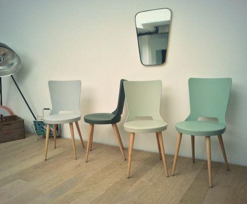 chaises bistrot vintage baumann dove revisites oompa meubles et dcoration vintage scandinave - Einfache Dekoration Und Mobel Interview Mit David Geckeler