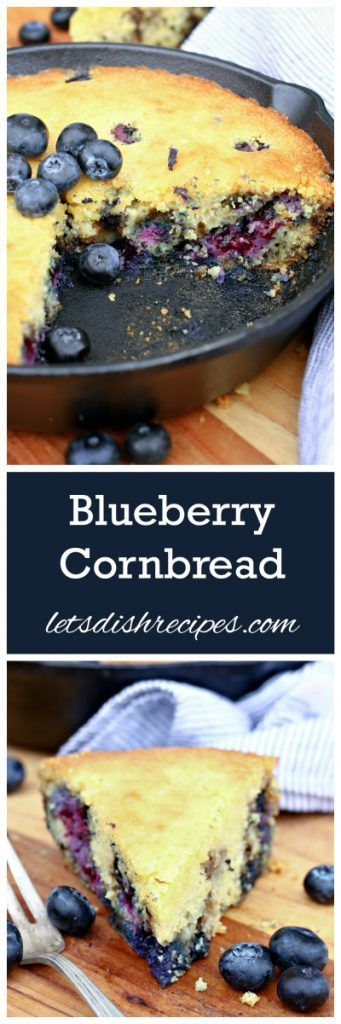 Blueberry Cornbread Recipe | This moist cornbread is wonderful for snacking or breakfast!