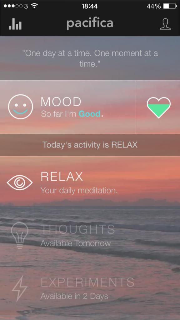 Fellow mentals have you tried anxiety management app Pacifica? Just d/led it at the suggestion of my bf + seems good
