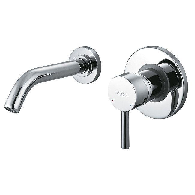 Vigo Olus Single Lever Wall Mount Single Handle Bathroom Faucet In   The  Home Depot