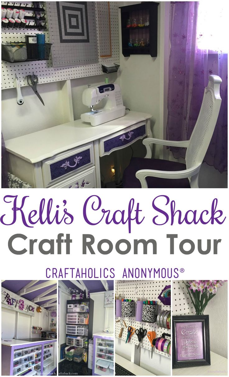 Craft Shed - Tour of Kelli's Craft Shack | Craftaholics Anonymous