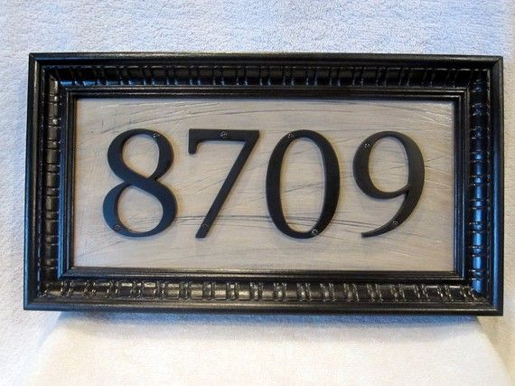 Gray Frame Around Address Numbers House Numbers Address Plaque Best Front Doors