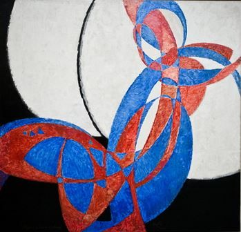 František Kupka - Double-coloured Fuga (1912). A pioneer and co-founder of the early phases of the abstract art movement.  #painting #art #Czechia #AbstractArt #CzechtArt